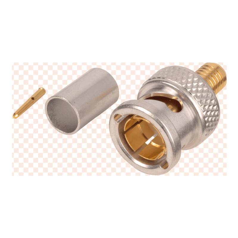 BNC射频连接器RG-59电连接器金属零部件加工定制