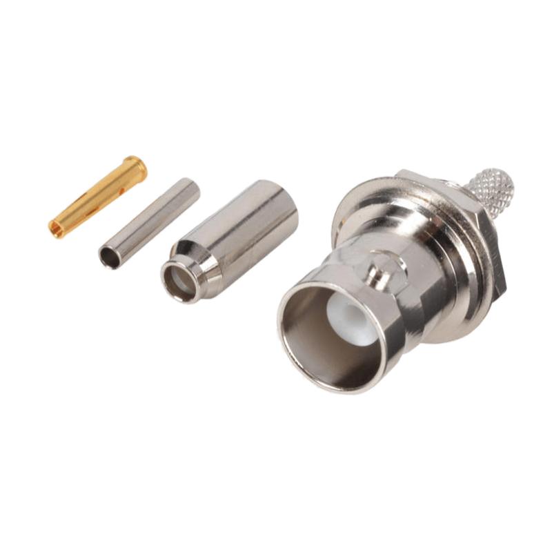 BNC连接器射频连接器电连接器金属零部件加工定制