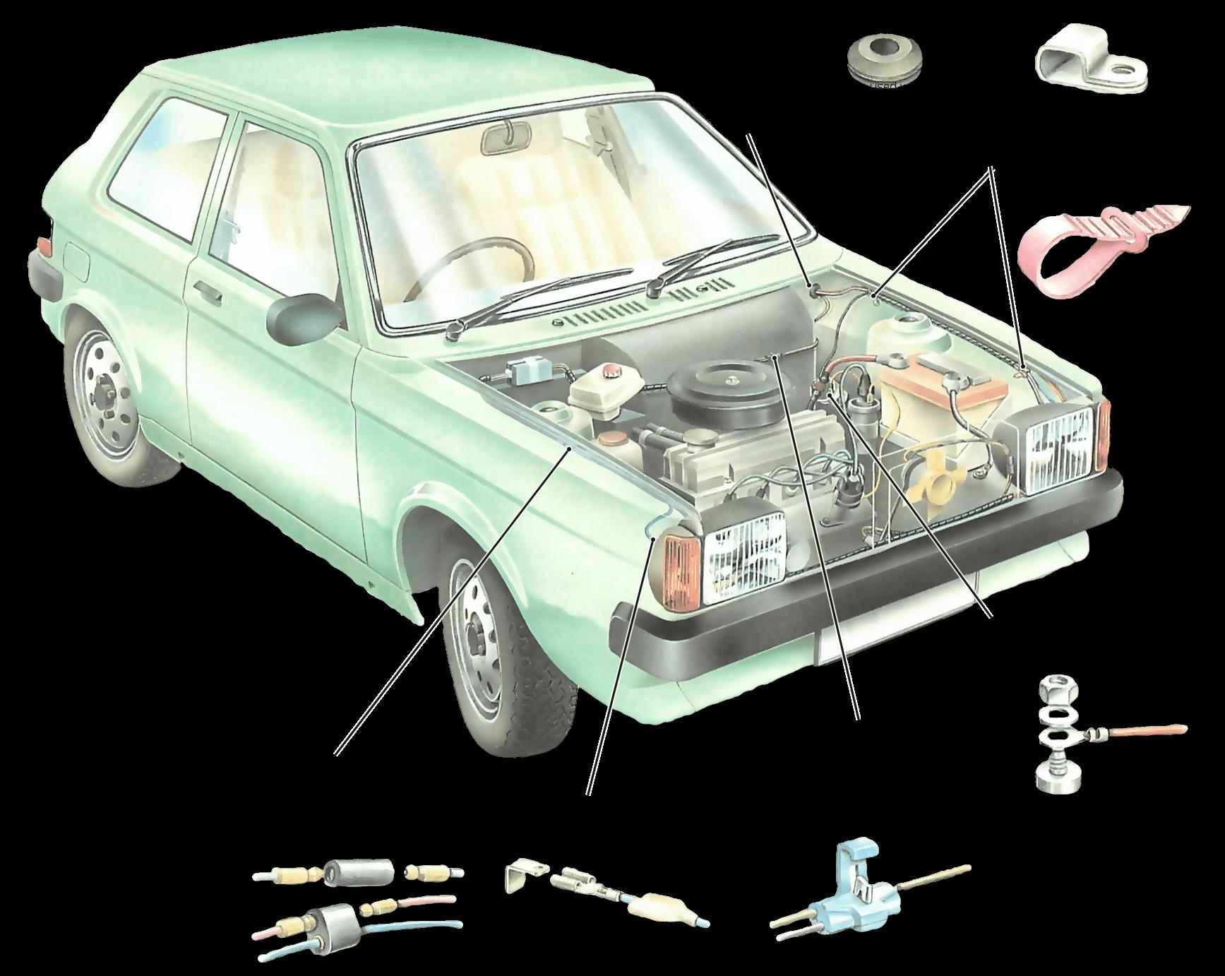 汽车连接器接插件由哪些基本结构组件组成?